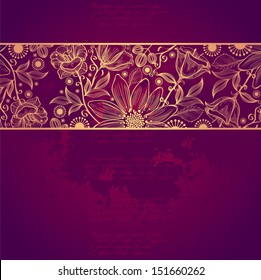 Vintage card on grunge background.Template frame design for card. Vintage Lace Doily.Can be used for packaging,invitatio ns, Hollydays decoration,bag template,