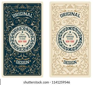 Vintage card. Western style
