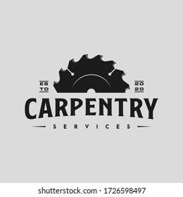 vintage carpenter logo, icon and illustration