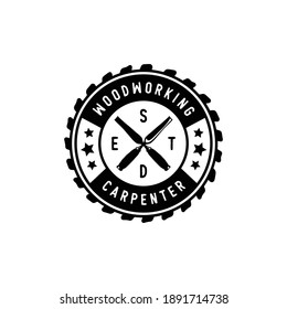 Vintage carpentry and mechanic labels, emblems and logo