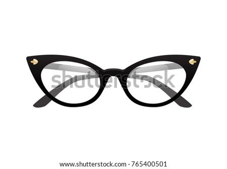 1e460273e77 Vintage Cateye Glasses Vector Isolated Stock Vector (Royalty Free ...