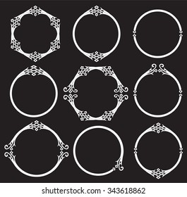 Vintage celtic round frames collection for your design project.