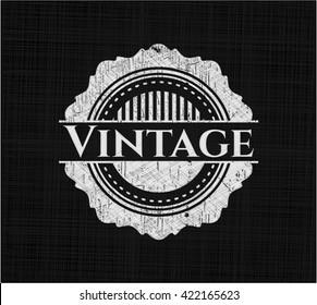 Vintage chalkboard emblem