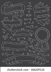 Vintage Chalkboard Hand Drawn Design Elements Nine