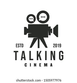 Vintage Chat Video Camera Logo design for movie / cinema production