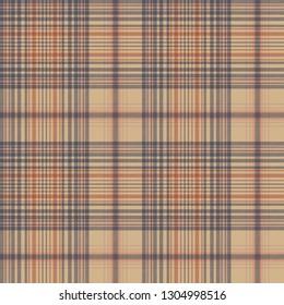 Vintage check fabric texture plaid seamless pattern. Vector illustration.
