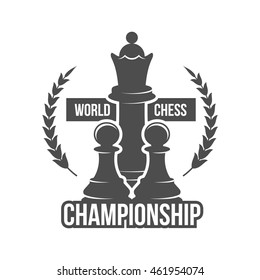 Vintage chess labes, logotype badge and design elements.