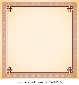Vintage chinese frame vector design