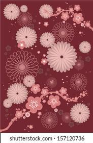 vintage chinese pattern/motif vector/illustration