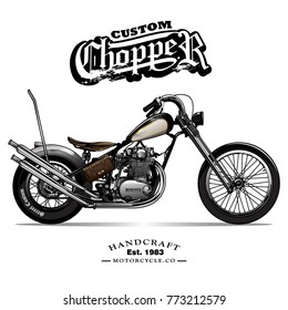 Vintage Chopper Motorcycle Poster