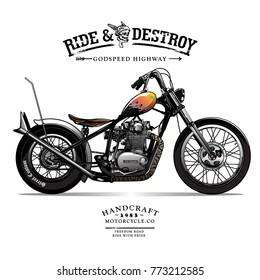 Vintage Chopper Motorcycle Poster