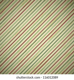 vintage christmas card background with red and green stripes, vector illustration