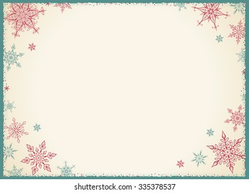 Vintage Christmas Frame - Illustration Vector illustration of Old-Styled Winter Background