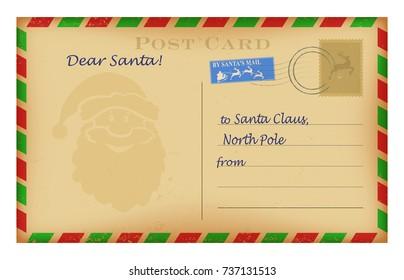 Santa Claus Envelope Images Stock Photos Vectors Shutterstock