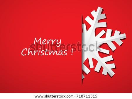 Vintage Christmas Postcard True Paper Snowflakes Stock Vector