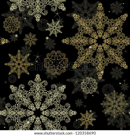 vintage christmas wallpaper with hand drawn snowflakes - Vintage Christmas Wallpaper
