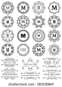 Vintage Circle Frames & Design Elements