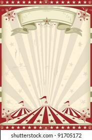 Circo vintage. un afiche de época circense para su publicidad