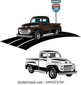 Vintage Classic American Pickup Truck  Cars