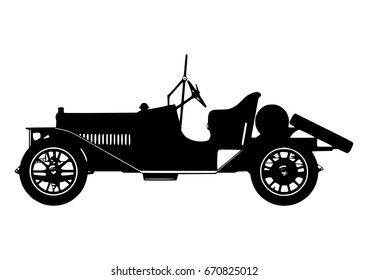 Vintage Classic Car Silhouette Vector