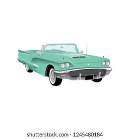 Vintage classic convertible car.