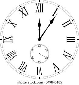 roman numeral clock images stock photos vectors shutterstock