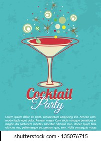 Vintage Cocktail Party Invitation Poster