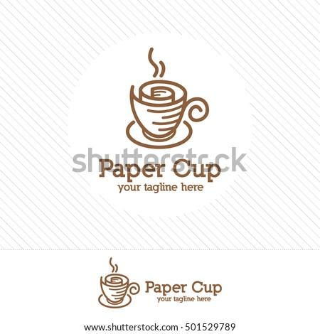 vintage coffee cup logo design vector stock vector royalty free
