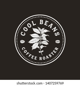 Vintage Coffee Logo - Vintage, antique style logo for coffee shop and roaster