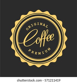 Vintage Coffee Shop Typography Logo Badge Vector