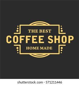 Vintage Coffee Shop Typography Logo Badge Vector