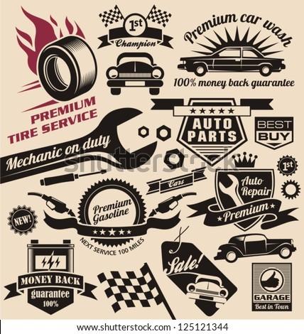 vintage auto repair shop signs