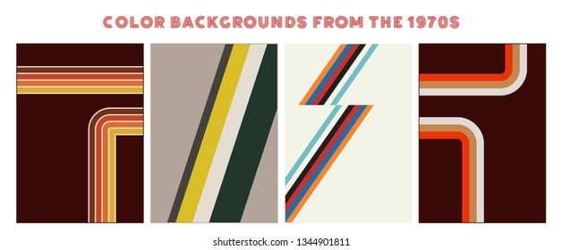 Vintage Color Backgrounds from the Seventies. Poster, Cover Backgrounds