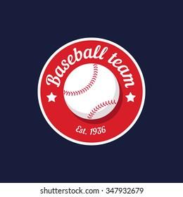 vintage color baseball championship logo or badge. Flat style design