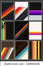 Vintage Colorful Backgrounds from the 1980s
