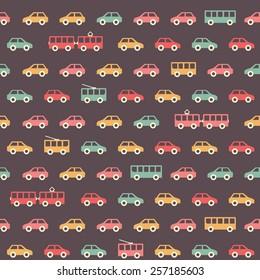Vintage colorful car pattern