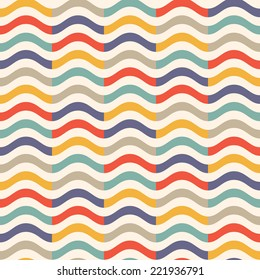 vintage colorful wave pattern