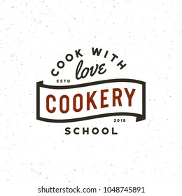 vintage cooking classes logo. retro styled culinary school emblem, badge, design elements, logotype template. vector illustration