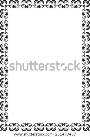 Vintage Cool Frame On White Stock Vector (Royalty Free) 251499457 ...