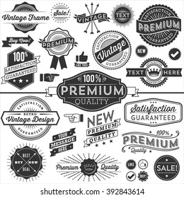 Vintage Copyspace Design Elements - Set of vintage frames, banners, labels and ornaments. Each design is grouped and colors are global for easy editing.
