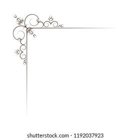 Vintage Corner elements. Swirls, filigree elements and ornate frames. Vector illustration. Design elements