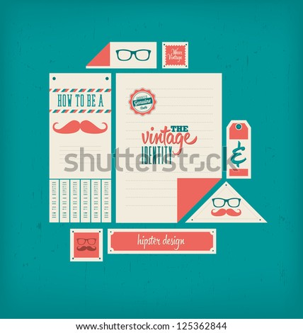 vintage corporate design hipster theme stock vector royalty free
