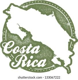 Vintage Costa Rica Central America Stamp