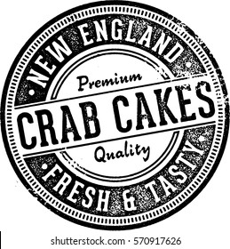 Vintage Crab Cakes Sign for Restaurants