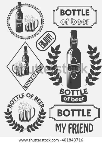 Vintage Craft Beer Brewery Emblems Labels Stock Vector Royalty Free