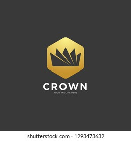 Vintage Creative Crown abstract Logo design vector template. Vintage Crown Logo Royal King Queen concept symbol Logotype concept icon.