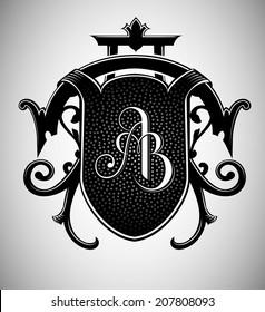 Vintage Crest with AB Monogram