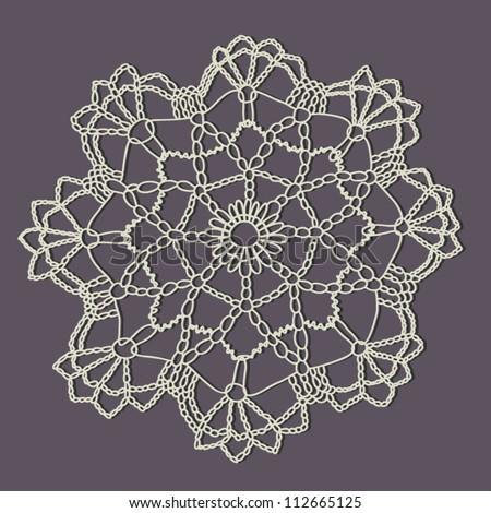 Vintage Crochet Doily Vector Stock Vector Royalty Free 112665125