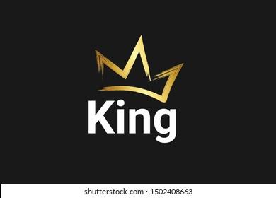 Vintage Crown Logo Royal King Queen abstract Logo design vector template