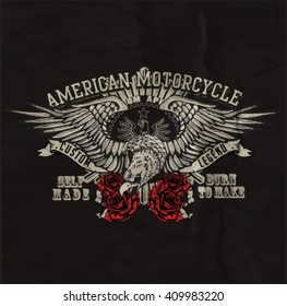 vintage custom motorbike graphic